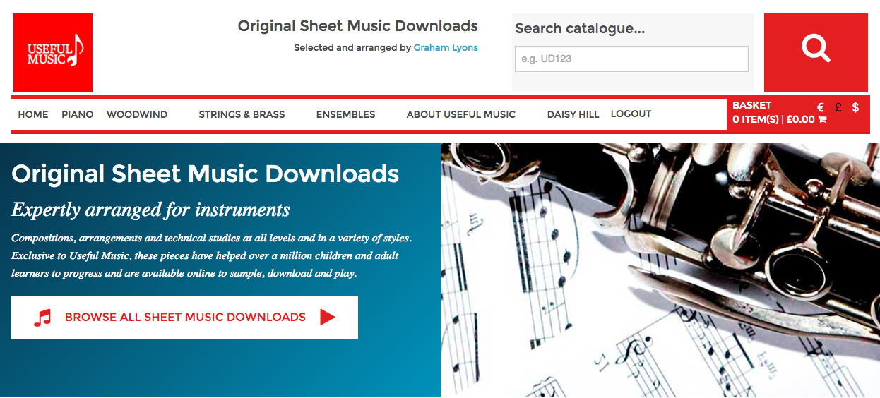 Homepage of the Useful Music site